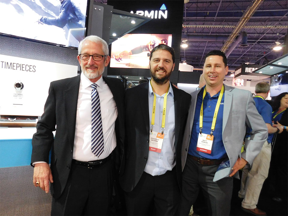 Dan Bartel, Vicepresident, WorldWide Sales; Eduardo Bicerne, Director y CoFundador Solution Box USA y  Matthew DeMoss, Director, Latin American, Australasian and New Market Sales