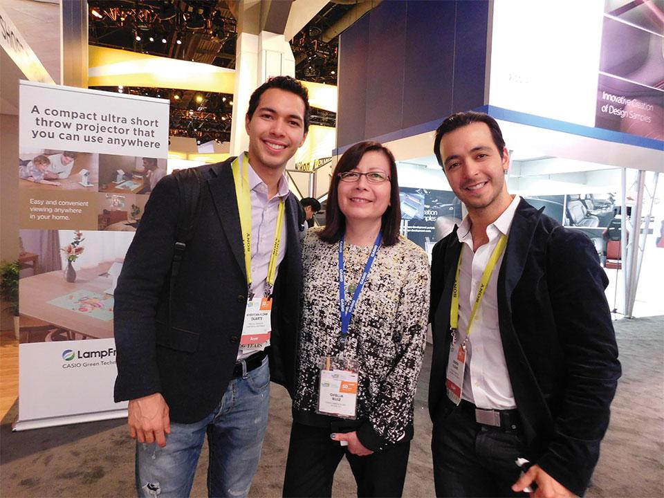 Erwin y Khristian Flohr from FPK Electronicos, Guatemala with Ofelia Ruiz from Casio
