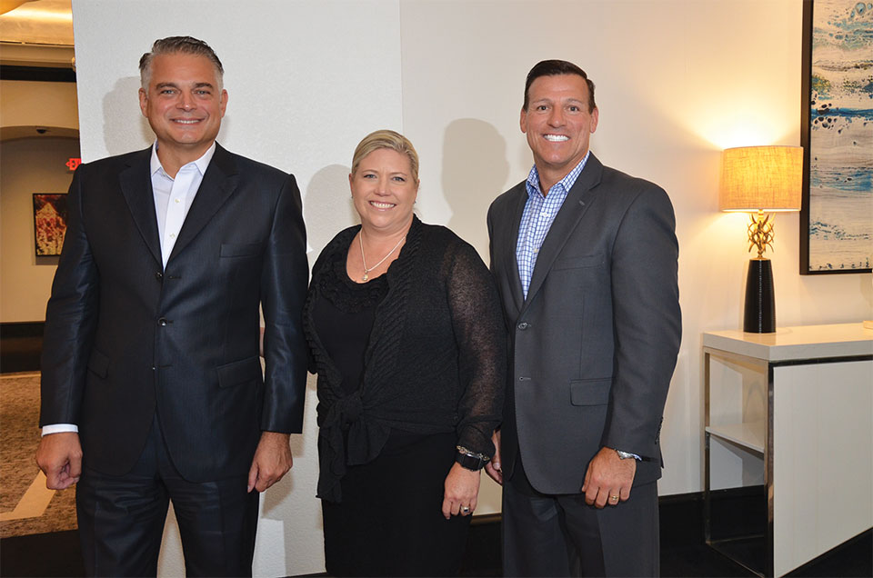 Leonardo Gannio, Executive Director, Jennifer Anaya, VP Marketing and Paul Bay, Executive VP & Group President of the America