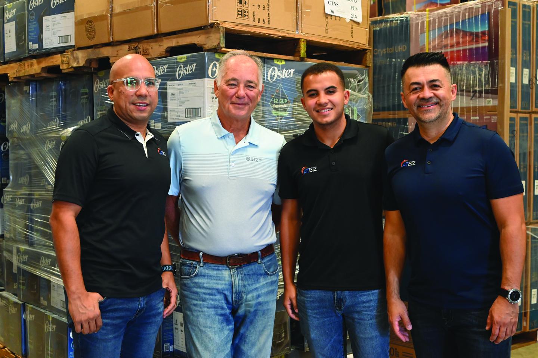 Eligio Rodríguez, VP- Purchasing, Ricardo Eliel, Sales, Ander Rodríguez, Operation Manager, Giovanni Ramos, VP-Sales